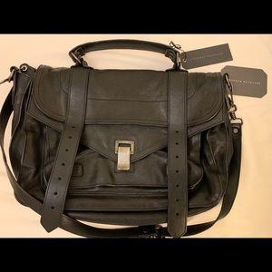 Proenza Schouler PS1 Medium Black Leather Bag
